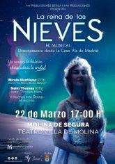 El musical LA REINA DE LAS NIEVES sustituye al espectáculo IMAGINANDO CON PETER PAN el domingo 22 de marzo en el Teatro Villa de Molina