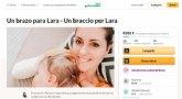 'Un brazo para Lara', el crowdfunding lanzado para que una joven murciana pueda comprarse una prótesis con la que volver a coger en brazos a su hija