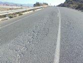 Invertirán 400.000 euros para renovar el firme y reparar taludes y cunetas entre la autovía Totana-Mazarrón y la Rambla de las Moreras