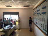 Los escolares torreños visitan la depuradora en una campaña de buenas prácticas medioambientales