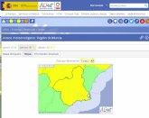 Meteorología emite boletín de fenómenos adversos nivel amarillo por lluvias para mañana tarde en la Región de Murcia