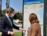 Turismo comienza en San Pedro del Pinatar la senalización de la ruta cicloturista EuroVelo