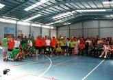Usuarios de tres centros con discapacidad intelectual de la Región celebran una jornada deportiva de convivencia en Totana disputando competiciones y concursos