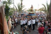 Centenares de personas vivieron la fiesta del Carmen junto a los pescadores de Puerto de Mazarrón