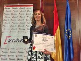 Angélica Galera, recoge la Estrella de Oro a la Excelencia Profesional