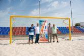 El Complejo Deportivo alberga este fin de semana la fase final de la liga nacional de f�tbol playa