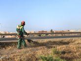 La Dirección General de Carreteras procede a la limpieza de la carreteras de Calabardina y Calarreona y la circunvalación