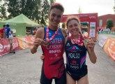Natalia Hidalgo y Sergio Baxter ganan el Triatlón de Almazán, primer clasificatorio para el campeonato de Espana distancia olímpica