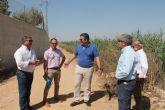 El cien por cien del agua tratada en la depuradora de Los Alcázares es reutilizada    por los regantes