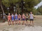 Seis murcianos entre los 36 triatletas de toda Espana que han participado en el Encuentro Nacional de Menores de Triatlón en La Estanca de Alcaniz