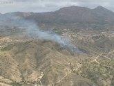 Movilizado operativo del Infomur para apagar incendio forestal en Macisvenda (Abanilla)