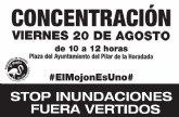 Vecinos de El Mojón convocan una concentración bajo el lema 'STOP inundaciones, fuera vertidos'