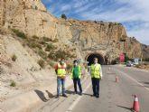 La Comunidad concluye la protección de los taludes de la carretera del Salto de la Novia en Ojós danados por la dana