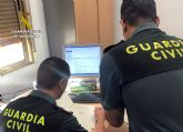 La Guardia Civil detiene a un vecino de Mula dedicado a estafar a través de Internet