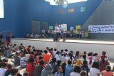 Los alumnos del colegio Nuestra Señora del Carmen realizan una marcha por el Mar Menor