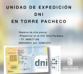 Desplazamiento del Equipo Móvil DNI los meses de noviembre y diciembre al Centro Integral de Seguridad de Torre Pacheco