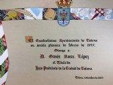 El acto de concesión del Título de Hijo Predilecto de la Ciudad de Totana al historiador Ginés Rosa será el 1 de diciembre