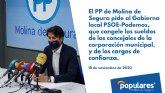 El PP pide al Gobierno local que congele los sueldos de los concejales y de los cargos de confianza