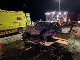 Accidente de tráfico en El Sabinar (Moratalla)