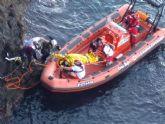 Rescatada una mujer que cayó al mar en Cabo de Palos