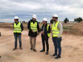 La primera fase de las obras de la pista de Atletismo de Torre Pacheco estará finalizada en un mes.