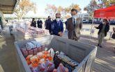 MercaMurcia recoge 6,5 toneladas de alimentos frescos y no perecederos para las familias vulnerables