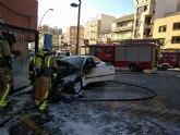 Incendio de un vehículo en Cieza