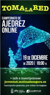 El programa TOMA LA RED de la Concejalía de Juventud de Molina de Segura ofrece el Campeonato de Ajedrez online el sábado 19 de diciembre