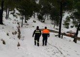 Se cortan los accesos a Sierra Espuña entre la casa forestal de Las Alquer�as y el cruce de La Perdiz