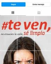 La campaña sobre limpieza y concienciación del cuidado del entorno Te Ven, también disponible en Instagram