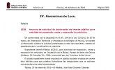 El BORM publica un anuncio de solicitud de declaración de interés público para actividad de exposición, venta y reparación de vehículos en Totana