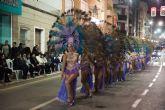 Rosazul de Sangonera la Verde gana el desfile de peñas visitantes