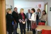 La consejera de Familia e Igualdad de Oportunidades, Violante Tomás, visitó hoy Totana