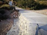 Arreglan el tramo de la carretera de La Huerta en su intersección con la rambla de Los Molinos, a la altura de la ermita de esta diputación