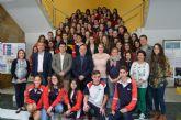 El alcalde recibe grupo 28 estudiantes alemanes de intercambio en el municipio con colegio 'Sagrado Corazón'