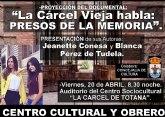 'La Cárcel vieja habla: Presos de la memoria'