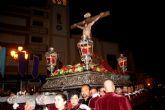 Puerto Lumbreras acogió la procesión del Silencio en la noche de Jueves Santo