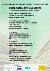 Puerto Lumbreras celebra el Día del Libro con varias actividades online orientadas al fomento de la lectura