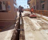 Renuevan la red de agua potable de la calle Pintor José Pérez de Puerto Lumbreras