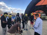 Los jóvenes practican 'paintball' en Puerto Lumbreras a través del programa 'Dicho y hecho'