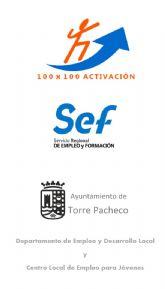El Ayuntamiento de Torre Pacheco colabora con el SEF en el programa de inserción laboral para desempleados '100x100 Activación'