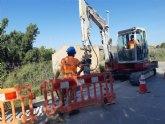 Comienzan las obras para instalar una tubería de distribución de agua potable en el Camino Los Sifones