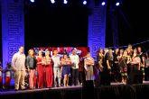 Las gemelas Ángela y Johanna y el grupo Botines, ganadores del V Concurso de Talentos