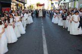 Los niños de comunión procesionan con motivo del Corpus Christi en San Pedro y Lo Pagán