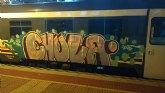 Identificadas tres personas por realizar grafitis en varios vagones de tren en la Estación de Sutullena de Lorca