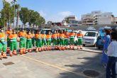 Ayer se presentaba la nueva flota de vehículos del servicio de limpieza viaria y recogida de residuos