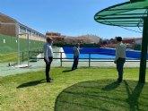 Visita del Alcalde a las instalaciones de la piscina de verano de Mula