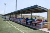 El complejo deportivo estrena una nueva p�rgola para las gradas de los campos de f�tbol