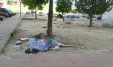 Izquierda Unida-Verdes Alcantarilla denuncia el estado de suciedad y abandono en el que se encuentra el municipio