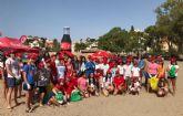 50 voluntarios de Cruz Roja participan en Bolnuevo en un proyecto medioambiental que combate la presencia de residuos pl�sticos en playas